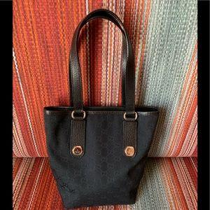 Authentic Gucci Charmy Small Tote Black GG